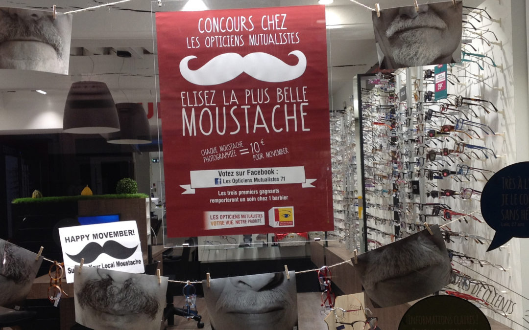 Les Opticiens Mutualistes soutiennent MOVEMBER !