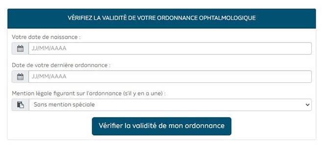 Vérifiez la validité de votre ordonnance ophtalmologique en ligne